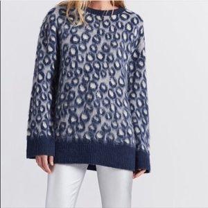Current elliot blue Cali leopard print sweater